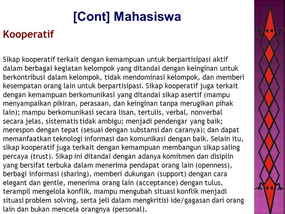 [Cont] Mahasiswa Kooperatif